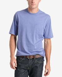 Izod Solid Double Layer Jersey Pocket T Shirt Dusted Per