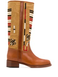 Etro Embroidered Knee High Boots 60