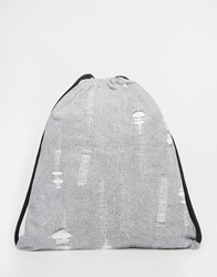 Cheap Monday Drawstring Bag White