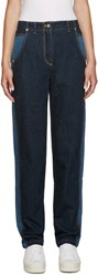 Kenzo Blue Two Tone Jeans