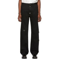 Raf Simons Black Rings Relaxed Fit Jeans