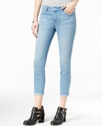 Jessica Simpson Juniors' Forever Rolled Light Blue Wash Skinny Jeans Medium Blue