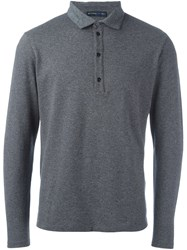 Etro Longsleeved Polo Shirt Grey