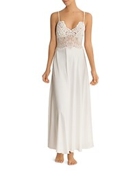 Jonquil Long Satin Gown Ivory
