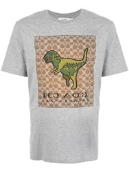 Coach Dinosaur Print T Shirt Grey