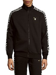 Puma Paneled Zipper Jacket Black