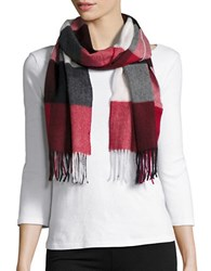 Lord And Taylor Plaid Cashmere Scarf Black