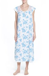 Women's Carole Hochman Designs Long Nightgown Shadowed Wallflowers
