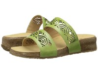 Haflinger Grace Lime Women's Sandals Green