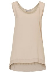 Betty And Co. Long Vest Top Pelican