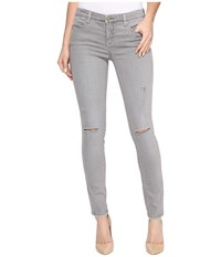 Blank Nyc Distressed Cropped Skinny In Feather Grey Feather Grey Women's Casual Pants Gray