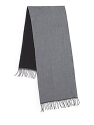 Saks Fifth Avenue Two Tone Wool Scarf Royal Navy