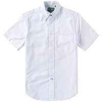 Gitman Brothers Vintage Short Sleeve Oxford Stripe Shirt White