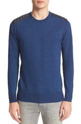 Belstaff Men's Kilnwood Quilt Shoulder Sweater