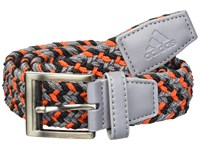 Adidas Golf Braided Weave Belt Grey Three Hi Res Red Belts Multi