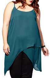 Mblm By Tess Holliday Plus Size Women's Satin Asymmetrical Tunic