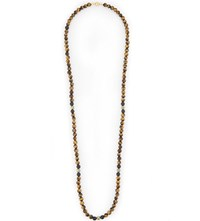 Nialaya Tiger Eye Beaded Necklace