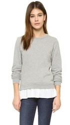Clu Too Ruffled Sweatshirt Heather Grey White