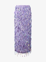 Ashish Sequin Embellished Maxi Skirt Purple