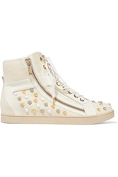 Just Cavalli Studded Suede Sneakers White
