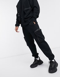 Mennace Utility Pocket Joggers In Black