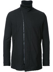 Julius High Neck Biker Jacket Black