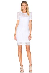 Alexander Wang Short Sleeve Fitted Dress White