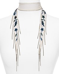 Chan Luu Star Floral Embroidered Skinny Scarf Deep Dive