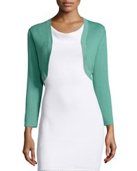 Carolina Herrera Cropped Sleeve Knit Bolero Tea Green