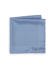 Charvet Silk Pocket Square Light Blue