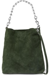 Little Liffner Candy Suede Tote Green