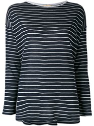 Fay Long Sleeved Top Women Silk S Blue