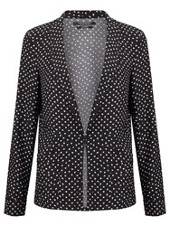 Maison Scotch Printed Drapey Blazer Black