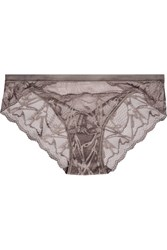 Calvin Klein Underwear Infuse Stretch Lace And Tulle Briefs Gray