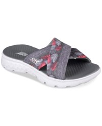 Skechers Women's On The Go Tropical Flip Flop Thong Sandals From Finish Line Grey