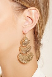 Forever 21 Geo Etched Drop Earrings