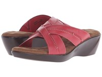 Walking Cradles Chase Red Burnished Leather Women's Slide Shoes