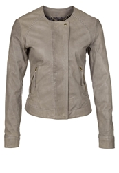 7 For All Mankind Leather Jacket Opal Grey