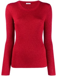 P.A.R.O.S.H. Fine Knit Sweatshirt Red