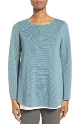 Eileen Fisher Women's Silk And Organic Cotton Pullover