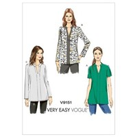 Vogue Women's Pullover Tunic Top Sewing Pattern 9151