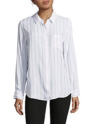 Rails Taylor Striped Shirt White Navy