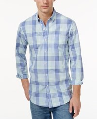 Club Room Men's Plaid Button Down Shirt Only At Macy's Lazulite
