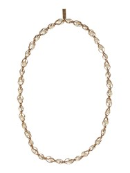 Max Mara Weekend Pearl Long Necklace White