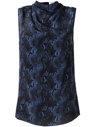 Camilla And Marc Safaro Snakeskin Print Top Blue