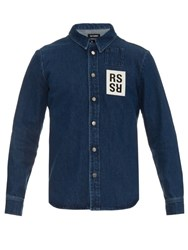 Raf Simons Long Sleeved Denim Shirt Blue
