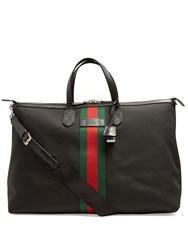 Gucci Web Technical Canvas Holdall Black Multi