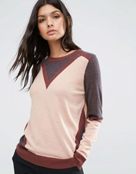 Y.A.S Momento Knit Pullover Shale Multi