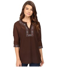 Rock And Roll Cowgirl 3 4 Dolman Sleeve B4 8373 Brown Women's Clothing