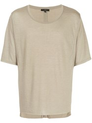 Iro Loose Fit T Shirt Polyester Viscose S Grey